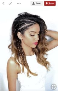 pinterest image of woman with side braids