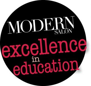 Modern Salon Excellence in Education logo